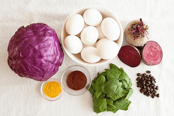 Colorants naturels pour les œufs