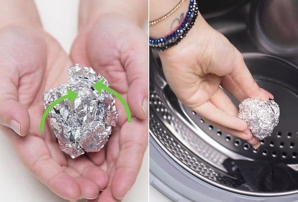 Machine washable with foil ball
