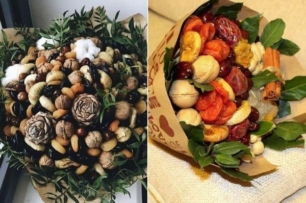 Bouquets de noix et fruits secs