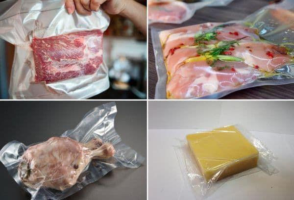 viande et fromage emballés sous vide