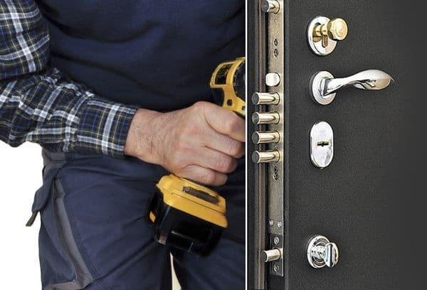 Een slot in de deuropening boren