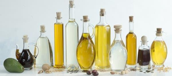 Différents types d'huile