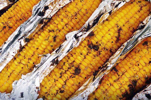 Maïs cuit au four