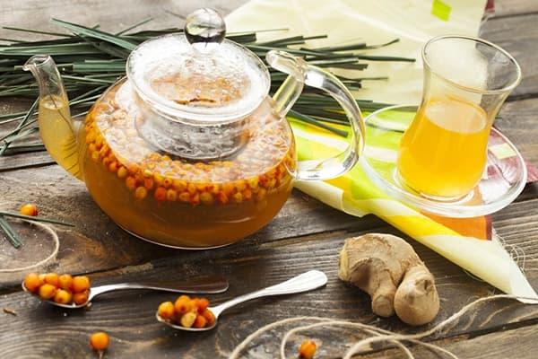 Thé à l'argousier et aux épices