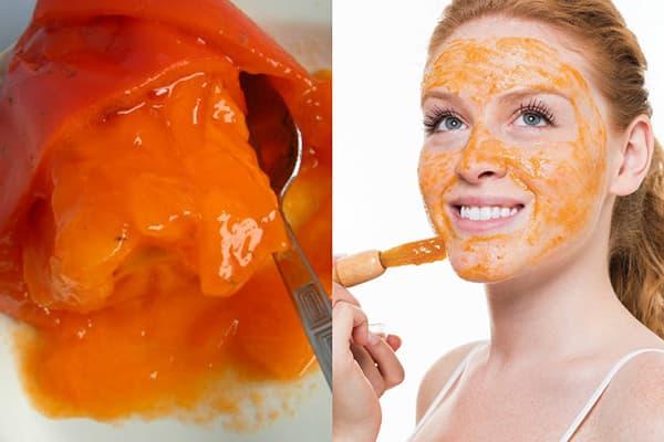 Masque de kaki pour le visage