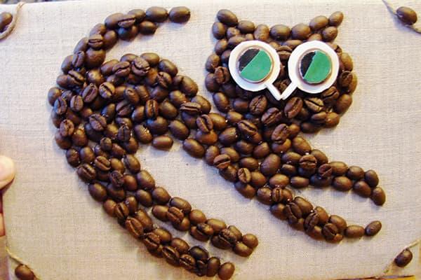 Panneau de grain de café