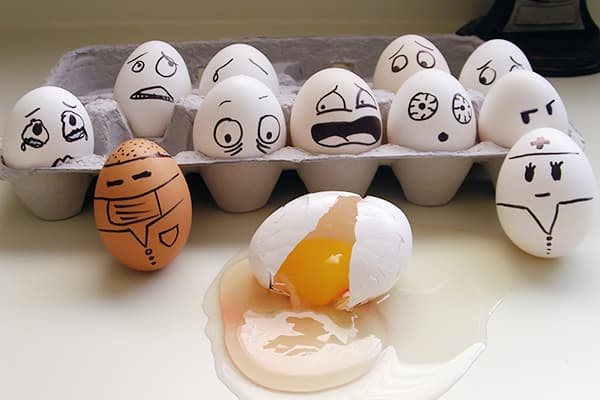 L'œuf s'est cassé