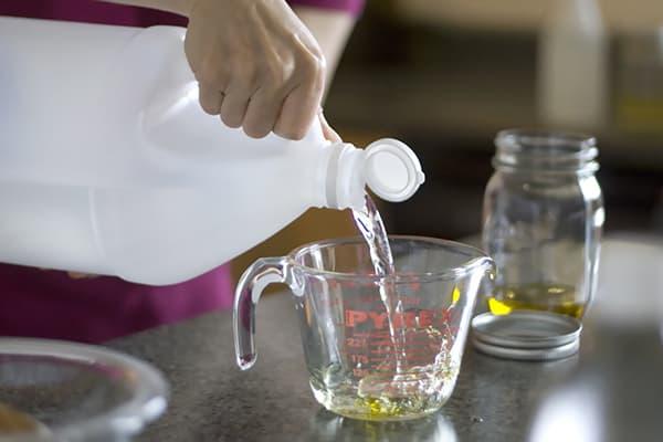 Dilution de vinaigre d'eau