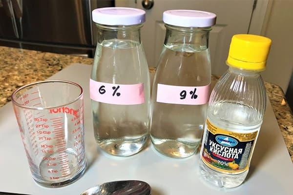 Solution d'acide acétique 6% et 9%