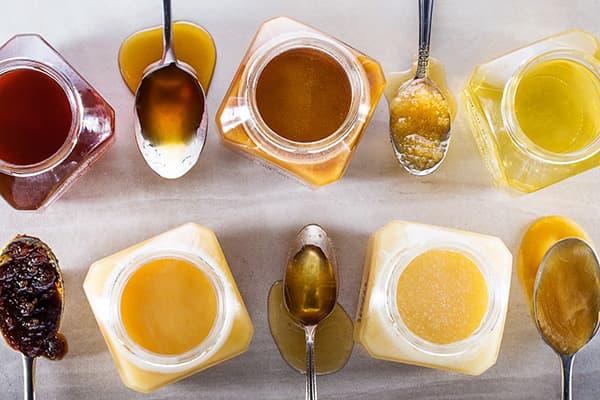 Différents types de miel
